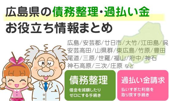 広島県での債務整理・過払い金請求に役立つ情報まとめ